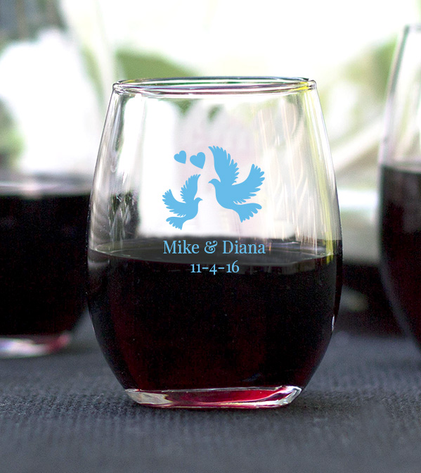 9 oz wine glass favors