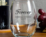 Forever Wedding Wine Glasses Personalized 9oz Wedding Reception Favors cheap favors