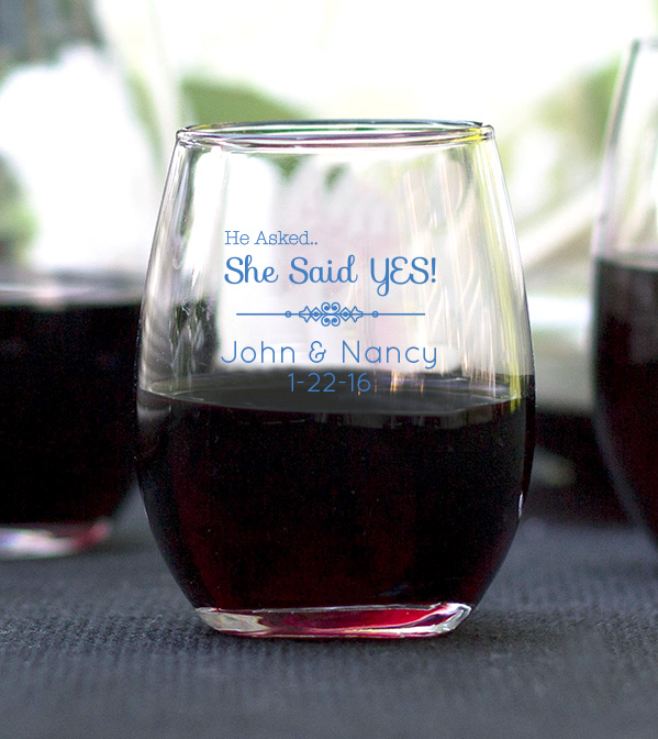 Personalized 9 Oz Stemless Wine Glasses - Bitterroot Public Library