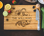 Personalized Roses Cutting Board cheap favors