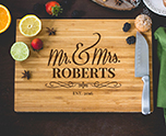 Personalized Mr. & Mrs. Cutting Board cheap favors