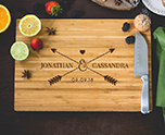 Personalized Arrows and Heart Cutting Board cheap favors