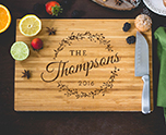 Personalized Family Wreath Cutting Board cheap favors