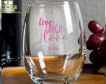 Live Laugh Love Personalized Stemless Wine Glasses 9oz Wedding Favors cheap favors