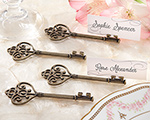 """Key To My Heart"" Victorian-Style Key Place Card Holder (Set of 4) cheap favors"