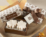 """Fall in Love"" Scented Leaf-Shaped Soaps cheap favors"