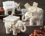 """Lucky Elephant"" Antique Ivory-Finish Tea Light Holder cheap favors"