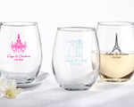 Personalized Stemless Wine Glass cheap favors