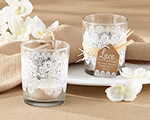 """Lace"" Glass Tealight Holder (Set of 4) cheap favors"