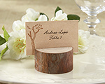 Rustic Real-Wood Place Card/Photo Holder (Set of 4) cheap favors