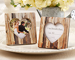 """Rustic Romance"" Faux-Wood Heart Place Card Holder/Photo Frame cheap favors"