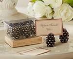 Pinecone Place Card/Photo Holders (Set of 6) cheap favors
