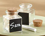 """Chalkboard"" Glass and Cork Favor Jars (Set of 12) cheap favors"