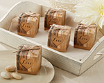"""Hearts in Love"" Rustic Favor Box (Set of 24) cheap favors"
