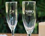 Personalized Champagne Flutes cheap favors