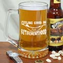 Retirement Glass Beer Mug cheap favors