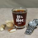 Hot Shot Personalized 21st Birthday Shot Glass cheap favors