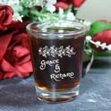 Personalized Couples Shot Glass cheap favors