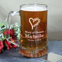 Personalized Bridesmaid Glass Mug cheap favors