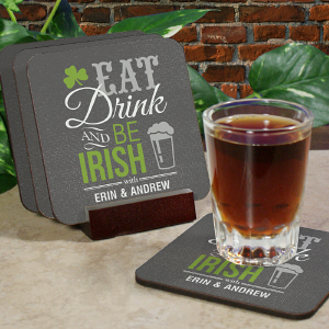 Personalized Irish Welcome Coaster Set cheap favors