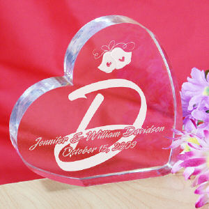 Personalized Wedding Heart Keepsake cheap favors