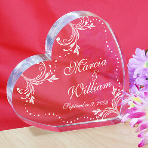 Personalized Wedding Couple Heart Keepsake cheap favors