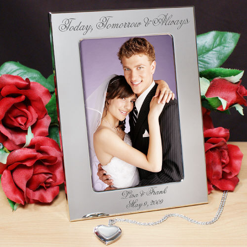 Engraved Picture Frames Wedding Favors : Engraved Today, Tomorrow & Always Wedding Silver Picture Frame wedding ...