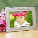 Perfectly Picked Flower Girl Personalized Silver Picture Frame cheap favors
