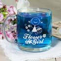 Personalized Flower Girl Glass Mug cheap favors