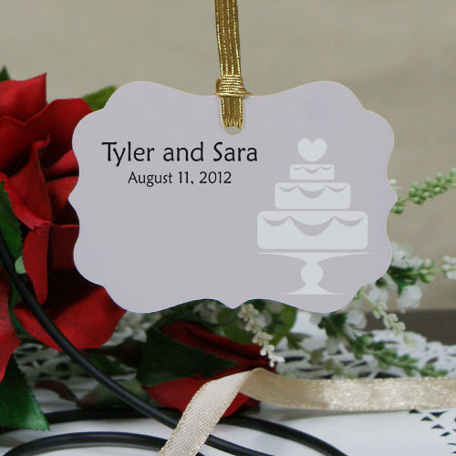 Personalized Wedding Favor Wedding Cake Ornament
