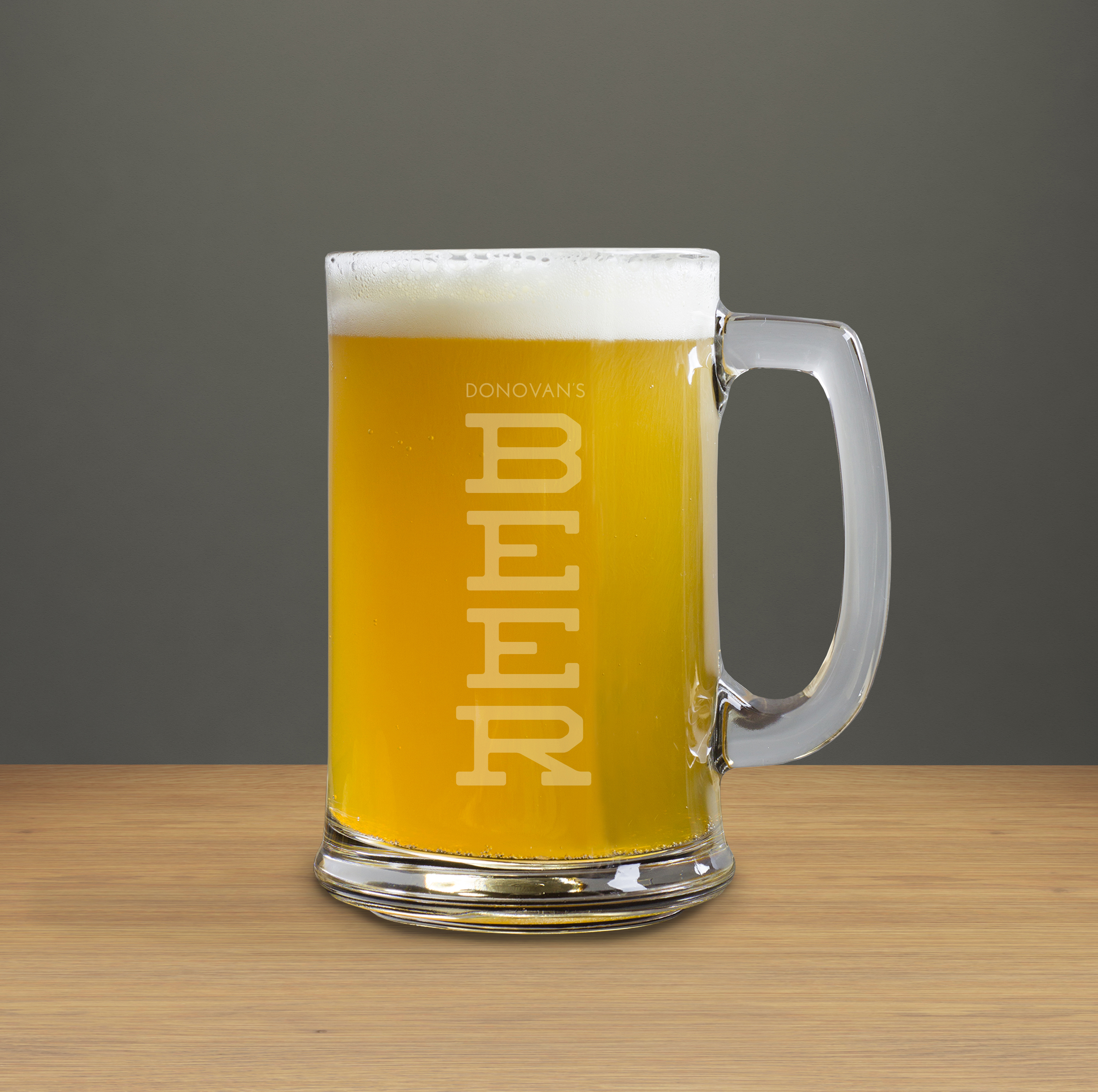 BEER Engraved Beer Mug wedding favors