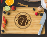 Personalized Cutting Board - Inverse Monogram cheap favors