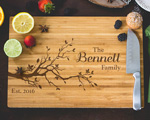 Personalized Cutting Board - Family Name and Tree Branch Engraved cheap favors