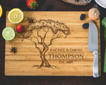 Personalized Cutting Board - Family Tree Engraved cheap favors