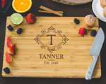 Personalized Cutting Board - Family Monogram Engraved cheap favors