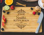 Personalized Cutting Board - Family Kitchen Engraved cheap favors