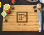Personalized Cutting Board - Square Monogram  cheap favors