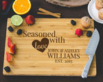 Personalized Cutting Board - Seasoned with Love  cheap favors