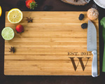 Personalized Cutting Board - Single Monogram cheap favors