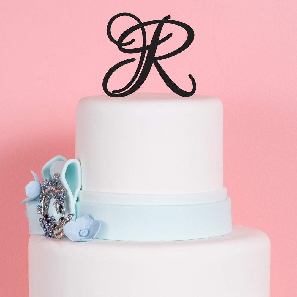 Design Your Own Monogram Cake Topper : Monogram Wedding Cake Toppers Fancy Monogram Wedding Intial