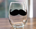Mustache Chalkboard 9oz Stemless cheap favors