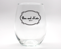 Classic Personalized Stemless Wine Glasses - 9 oz cheap favors