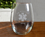 Star of Life 15 oz Stemless Wine Glass cheap favors
