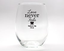 Personalized Stemless Wine Glasses - 15 oz cheap favors