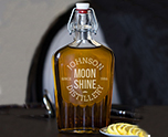 Moonshine Distillery 17 oz. Glass Flask cheap favors