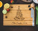 Personalized Family Christmas Tree Cutting Board cheap favors